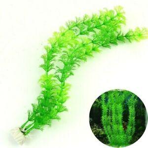 Faux Artificiel Plastique Eau Pelouse Plantes Poisson Aquarium Ornement Décor