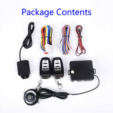 Auto Car One Button Engine Start Alarm System Security Ignition Push Remote Kit
