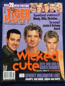 Tiger Beat Magazine October 2001 NSync Aaron Carter Britney Spears D Gallagher