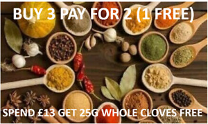 BUY 3 FOR 2 INDIAN WHOLE SPICES SEEDS CURRY COOKING MASALA POWDER SEASONING SET