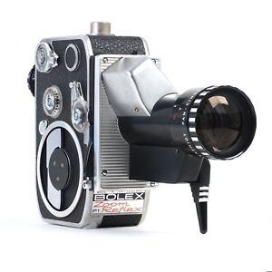 ^ Bolex Zoom Reflex P1 8mm Cinema Camera w/ Som Berthiot Pan Cinor 8 40mm Lens