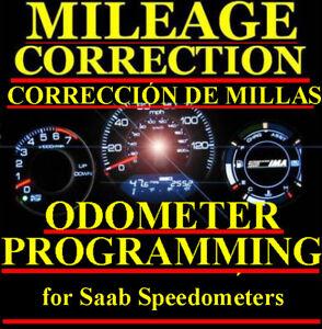 Saab Speedometer Instrument Gauge Cluster Mileage Odometer PROGRAMMING