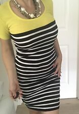 FRENCH CONNECTION WOMENS DRESS STRIPED KNEE LENGHT COTTON SZ 6