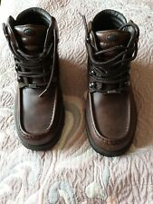 Rockport XCS Lace Up Brown Boots Hydro Shield Waterproof Size 7 w