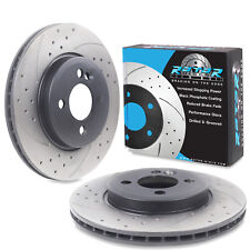 Mini  II 1.6 Cooper S 11//06 Front Brake Discs Drilled Grooved Mtec GoldEdition