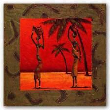 Sun Tribe II Kamba African American Art Print 10x20