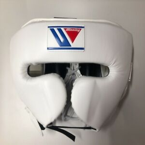 Winning FG-2900 Headgear Face guard Type  Size:Large, color:White