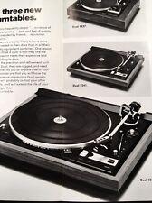 "Dual 1245 Turntable ""Original"" Owners Manual plus brochure on 1237 1241 & 1245"