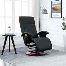 vidaXL Elektrische Massagestoel Kunstleer Zwart Relaxstoel Fauteuil Stoel