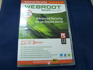Webroot Secure Anywhere Internet Security Plus (3 Devices) Windows 8 sealed
