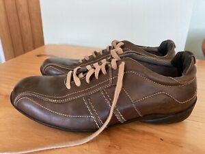 MENS BLUE HARBOUR BROWN LEATHER MOCCASIN LACE UP CASUAL SHOES - SIZE 6