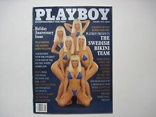 "Playboy January 1992 The Swedish Bikini Team, Holiday Anniversary Issue ""SWEET"""