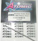 Atomic Awd097 Titanium Centre Shaft Awd with Prinion Gear