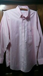 Brooks Brothers Mens 17 1/2 35 Traditional Fit Pink Dress Shirt Monogrammed HEB