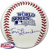 Dodgers Tom Tommy Lasorda Signed Autographed 1981 World Series Baseball JSA Auth