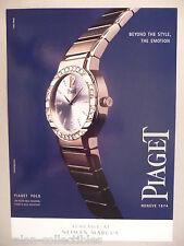 Piaget Polo Wristwatch PRINT AD - 2001 ~~ watch