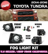 14 15 16 TOYOTA TUNDRA Fog Light Driving Lamp Kit w/ switch wiring (CLEAR)