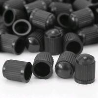 50x New Black Plastic Auto Car Truck Wheels Tire Valve Air Dust Stem Caps Cover