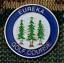 """Eureka Golf Course 1"""" Gold Plated Golf Ball Marker by Golf Design Usa"""