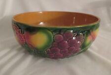 Vintage/Antique Salins Les Bains Fruit Bowl ~ Lush Majolica Fruit Design ~France