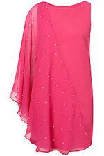 BNWT Topshop 'Dress Up' Asymmetric Diamante Embellished Sleeve Evening Dress 8