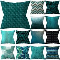 Green Gray Soft Pillow Case Sofa Car Waist Throw Cushion Cover Home Decor ET