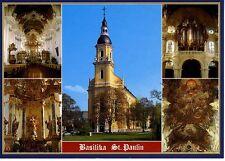 Postkarte Trier Fotokunst Schwalbe: M20 St. Paulin, Barockkirche, Balth. Neumann