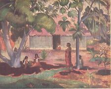 "1960 Art Print ""Landscape, Tahiti""  By Paul Gauguin French School Free Shipping"