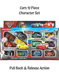 Cars 12 Piece Play Set Lightning Motor Run Figure Car Truck Race Pack Kids Toy