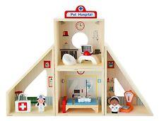 Wooden Pet / Animal Hospital Pretend Play Set