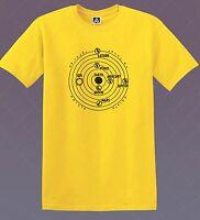 Solar System T-shirt Space Horoscope Planet Tee Tarot Sun Reading Printed Top