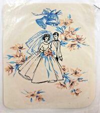 Vtg Bride Groom Wedding Water Slide Ceramic Decals 1950s Mid Century Kitsch