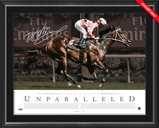Black Caviar Hand Signed Unparalleled Horse Racing Lithograph Framed Peter Moody