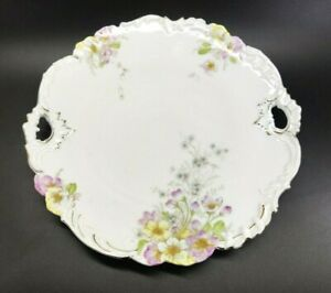 Bavarian China Germany Plate Floral Bouquet Gold Accents