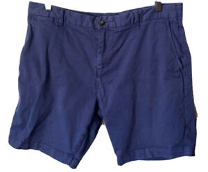 """French Connection Men's Casual/ Walking/ Chino Shorts W 36"""" Blue Pre Owned EC"""
