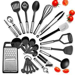 Cooking Utensil Set 24 Piece Stainless Steel Heat Resistant Kitchen Gadget Tools