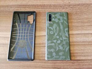 Samsung Galaxy Note10+ SM-N975F/DS - 256GB - Aura Glow with case and dbrand skin