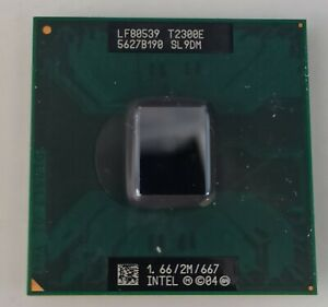 Processeur Intel Core Duo T2300E, 2Mo de cache, 1,66 GHZ, SL9DM, PBGA479/PPGA478