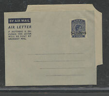 Aden  6 anna  air letter sheet  unused  revalued to 50 cents       APL 0424