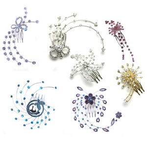 Hair Comb Dance Ballet Crystal Diamante Piece Kids Girls Clip Slide Accessories