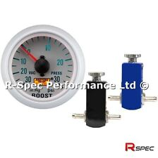Compact Manual Boost Controller MBC Kit & PSI Boost Gauge - Any Petrol Turbo Car