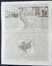 1719 Chatelain Antique Map, Views & Plans of Peru & Lima South America