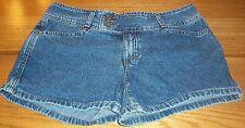 CALVIN KLEIN blue denim casual shorts tag size 9 actual W31 L3 rise 9