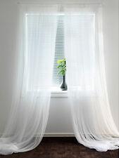 "IKEA lace curtains 6 panels white mesh net gauzy 98""x110"" wedding party drapes"
