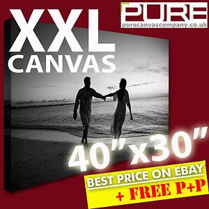 YOUR PHOTO ON CANVAS XXL Box Canvas *DEEP FRAMED* 40 x 30