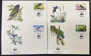 DOMINICA 1984 WWF Official FDC BIRDS
