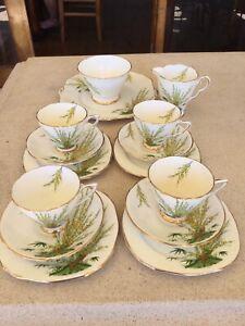 Art Deco Royal Staffordshire 'Broom' China Tea Set