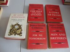 JAMES GOULD COZZENS  LOT OF 5 HARDCOVER BOOKS BY LOVE POSSESSED & SET
