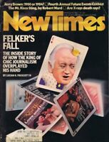 ORIGINAL Vintage New Times Magazine March 14 1977 Clay Felker