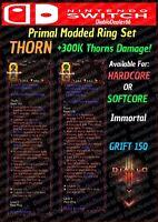 Diablo 3 - NINTENDO SWITCH - MODDED PRIMAL RING SET - THORN - IMMORTAL + LOOK!